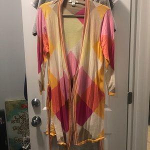 Liz Claiborne pastel cardigan